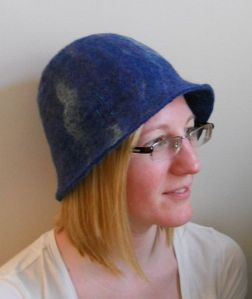 Felted Blue Brimmed Hat